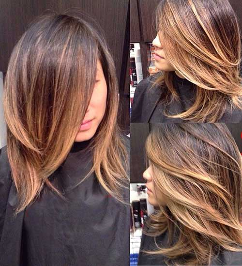 Black layered haircuts for medium length hair