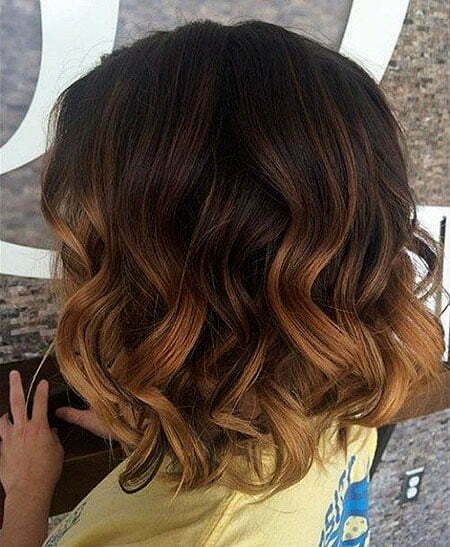 Balayage Ombre Short Hair, Color Brunette Brown Balayage