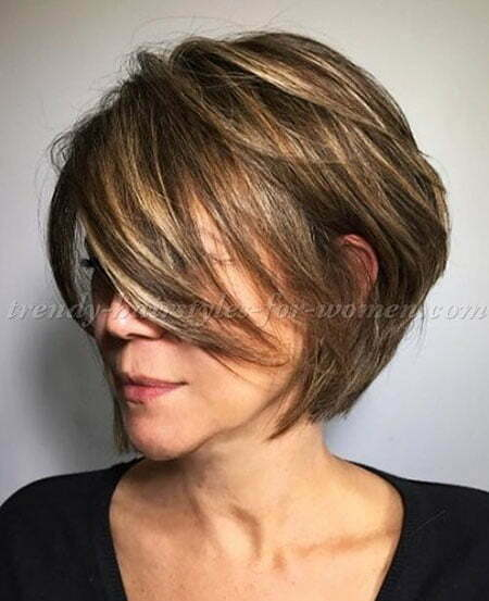 Short Bob Haircut for Older Women, Bob Women Short Pixie