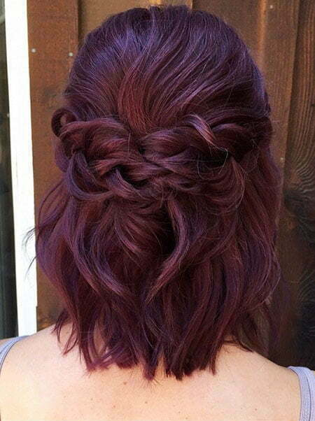 Short Hairtyle for Girls, Color Wedding Up Shoulder