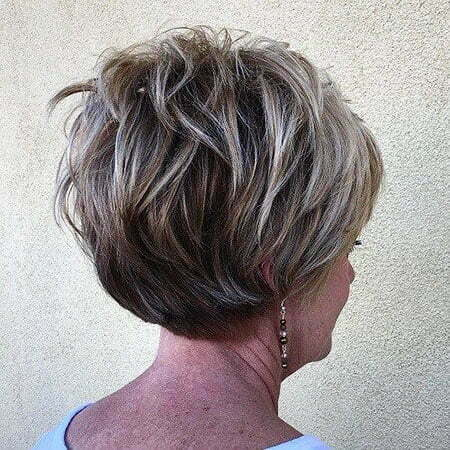 Short Layered Hairtyle, Bob Layered Blonde Women