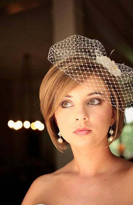 Wedding Veil Birdcage Short