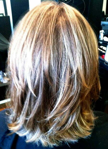 Length Layered Shoulder Bob