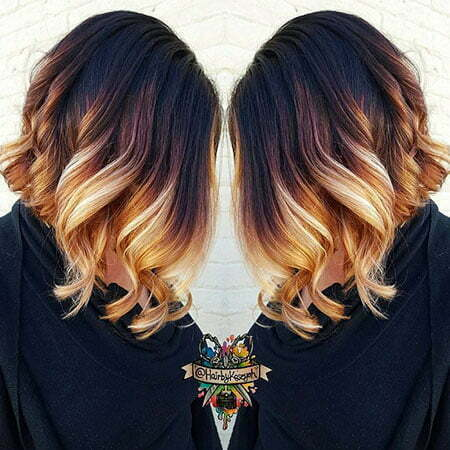 Balayage Ombre Blonde Woman
