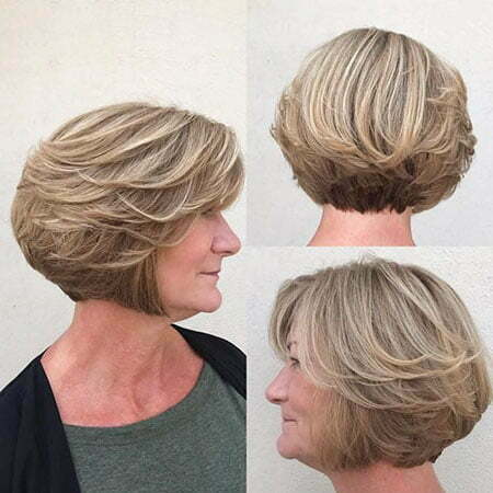 18 Short Bob Haircuts For Older Women
