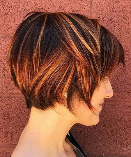 Layered Bob Choppy Balayage