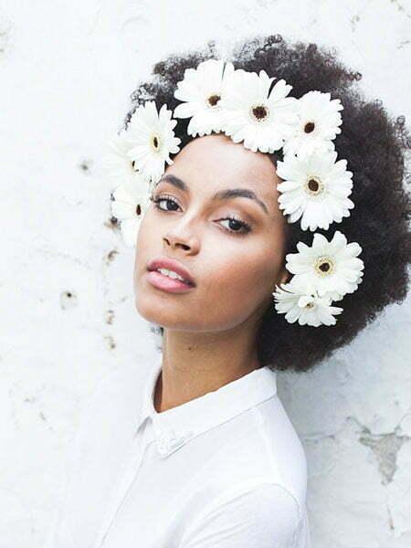 Afro Flowers Black Women