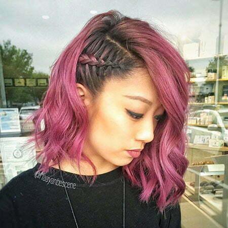Purple Side Ombre Color