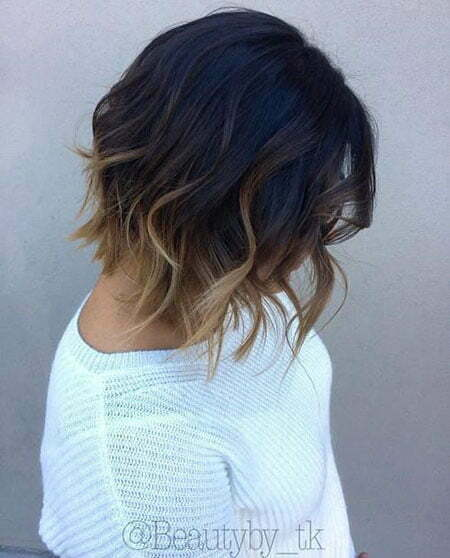 Ombre Highlights Brown Bob