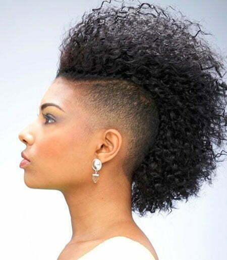 Black Women Mohawk Natural
