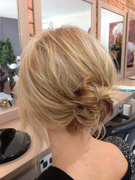 Blonde Messy Layered Low