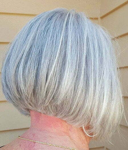 Gray Bob Layered Grey
