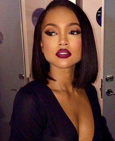 Women Black Wig Makeup