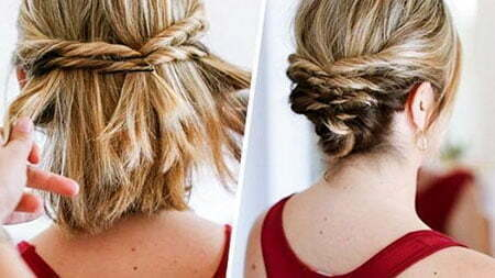 Bun Braided Wedding Updos