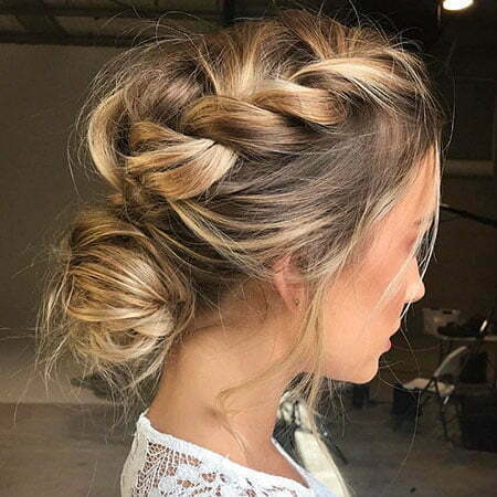 Updo Messy Wedding Bun