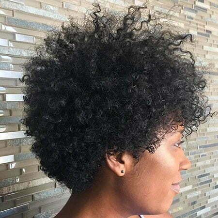 Natural Hairtyle, Natural Curly Afro Women