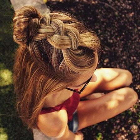 Bun Hair, Girls Cute School Bun