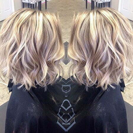 Wavy Hairtyle, Blonde Wavy Color Yellow