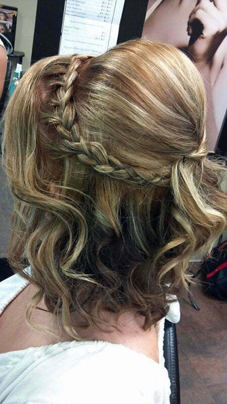 Braid Hairtyle, Wedding Braid Waterfall Updo