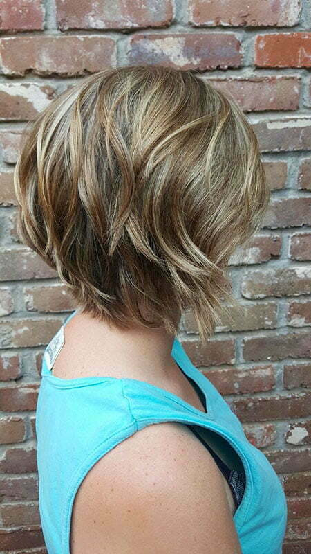 Blonde Hair Color, Layered Bob Blonde Balayage