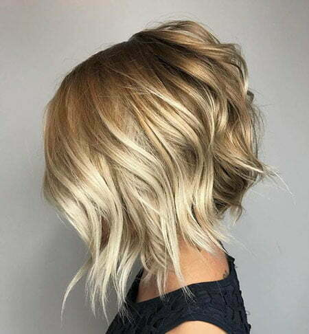 Blonde Bob Choppy Balayage