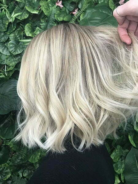 Blonde Balayage Platinum Choppy