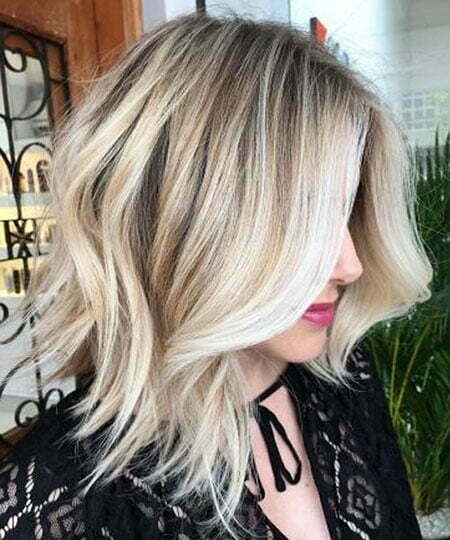 Blonde Balayage Choppy Women