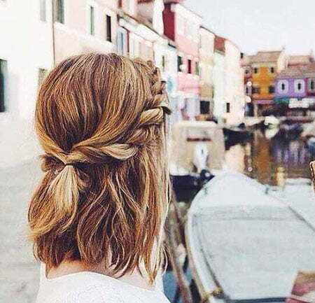 Braided Bun Hairtyle, Braided Updo Cute Bun