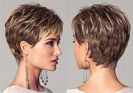 Layered Haircut, Pixie Short Women Cropped