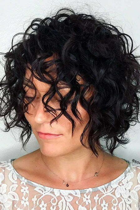 Curly Bob Hairtyle, Curly Bob Waves Updo