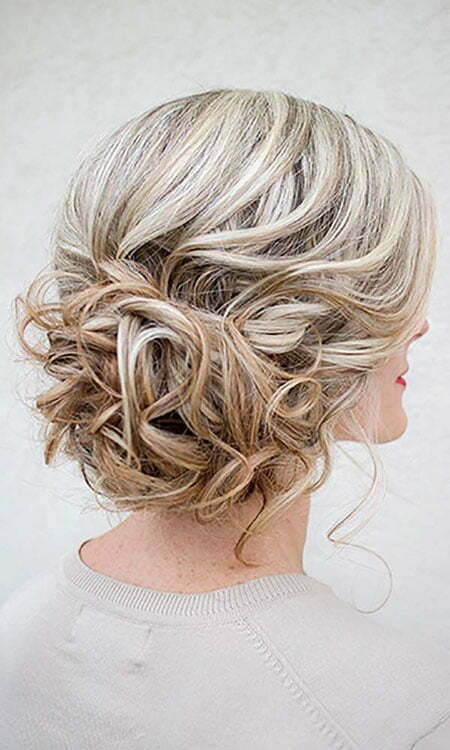 Blonde Updo Hair, Wedding Updo Short Messy