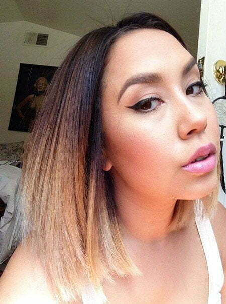 Summer Hairtyle, Ombre Straight Color Trends