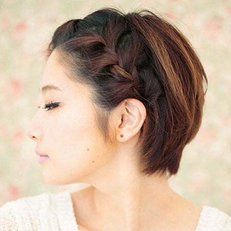 Brown Hair Color, Brown French Braid Bob