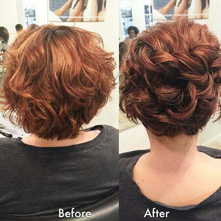 Wavy Updo Hairtyle, Curly Short Updos Updo