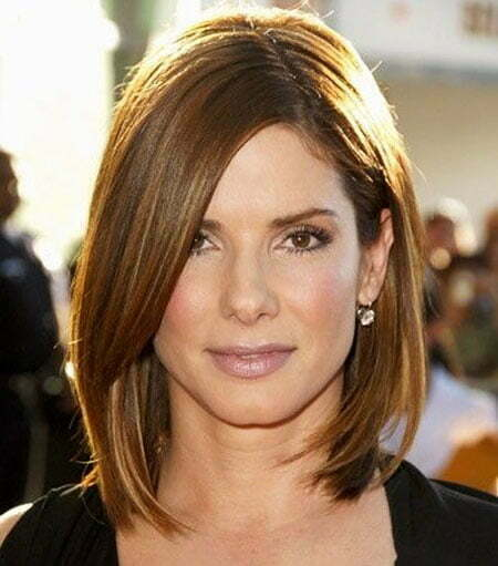 Thin Hair, Length Sandra Bullock Women