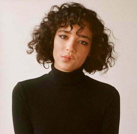 Pretty Hair, Curly Bangs Short Pretty