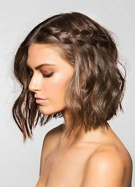 Braided Bob, Short Prom Choppy Braided