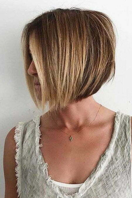 Fine Bob Hair, Bob Layered Balayage Blonde