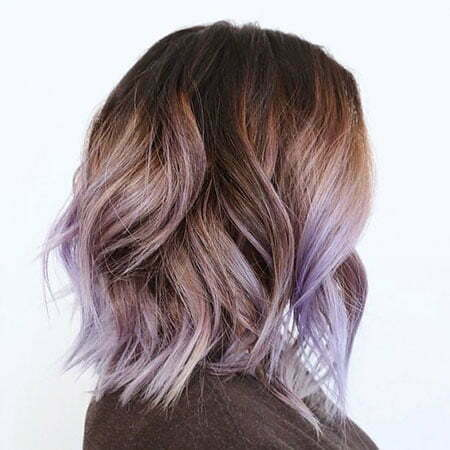 Lavender Ombre Hair, Color Ombre Brown Balayage