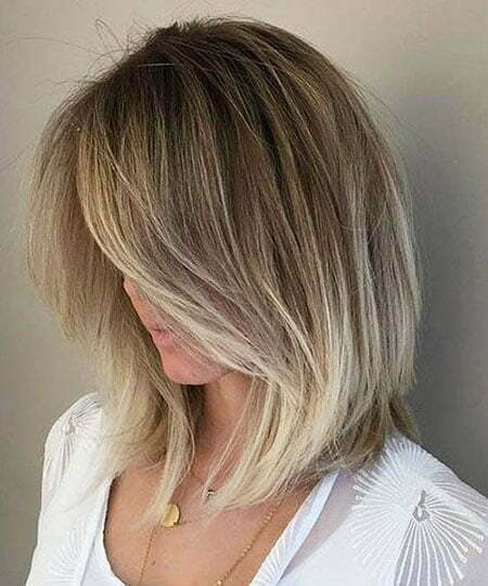Blonde Balayage Hair Color, Bob Blonde Balayage Young