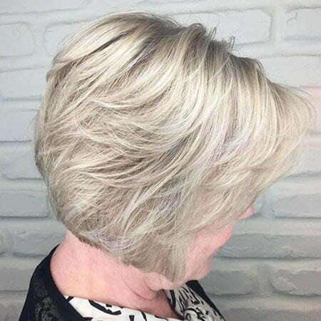 Layered Haircut, Blonde Bob Layered Pixie