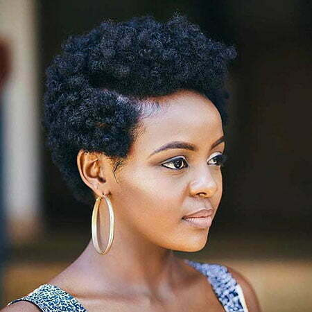 Natural Hair, Natural Black Women Short