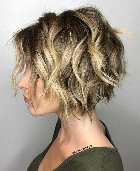 Bob Balayage Layered Choppy