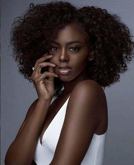 Black Afro Women Nature