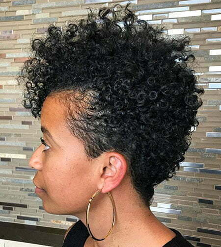 Natural Short Curly Women