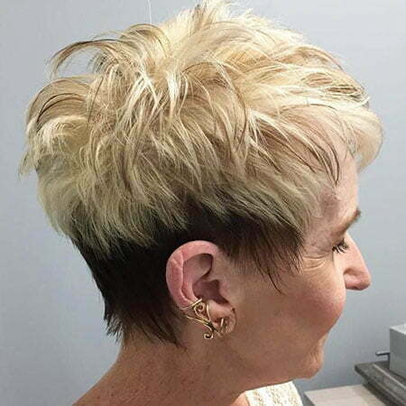 Short Pixie Women Blonde