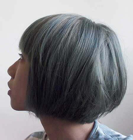 Gray Bob Layered Color